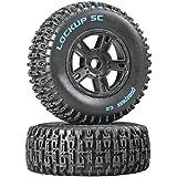 Lockup SC Tire C2 Mounted Black SC10 Fr (2)