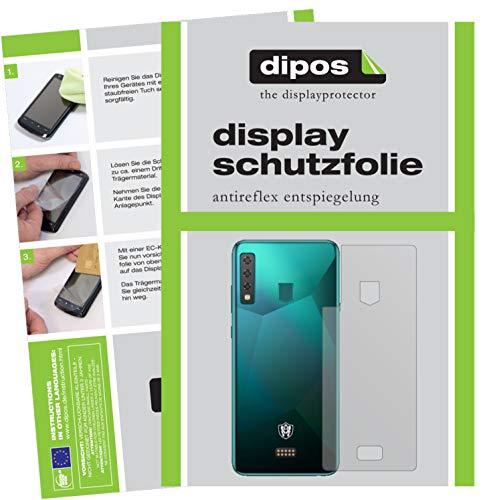 dipos I 2X Schutzfolie matt kompatibel mit HiSense King Kong 6 Rückseite Folie Bildschirmschutzfolie (bewusst Kleiner als das Glas, da Dieses gewölbt ist)