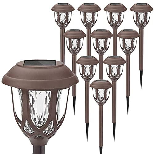 Lampada Solare da Giardino, 10 pezzi Giardino Lampade da Esterno per Prato, Led Luci Solari LED Lampade Solari Terra IP65 Impermeabile Lampade da Esterno per Passaggio Pedonale Patio Cortile Prato