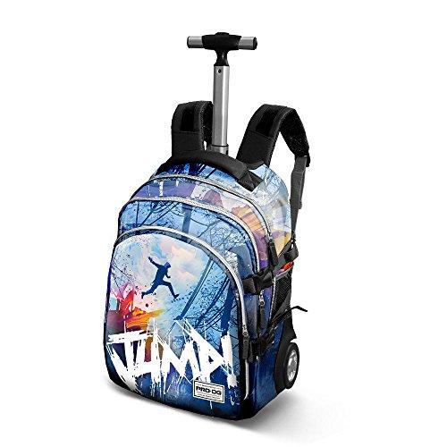 PRODG PRODG Jump-Travel Trolley Backpack Rucksack, 48 cm, 28 liters, Blau (Blue)
