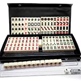Mahjongg Set Travel Mahjong Mini Gift Chinese Majiang Portable for Family Games Club Traditional Toy Tiles (Single Grain Mahjong Size: 20 × 14 × 12CM),Travel Mini Mahjong-Single Mahjong size 2×1.4×1CM
