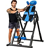 TELESPORT Inversion Table, Back Pain Relief Kit with Secure Belt/Movable Lumbar Support, Folding...