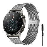 YHC Correas para Huawei Watch GT2 46mm/GT 2 Classic/GT 2 Pro Correa,Pulseras de Metal Compatible con...
