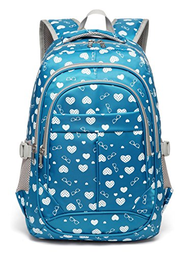 BLUEFAIRY Sweethearts Kids School Backpacks for Girls School Bags Bookbags (Blue)