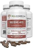 Reishi 415 Longevity Capsules (90ct), 500mg Organic Reishi Mushroom Capsules, Reishi Mushroom...