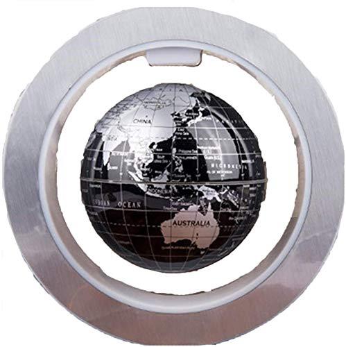 KJHG Lámpara de globo, novedad lámpara de mesa decorativa de LED con lechada magnética, lámpara de mesa redonda, mapa del mundo, flotante, luz nocturna para niños, globo flotante magnético