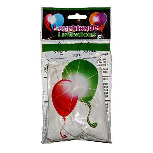 15 LED leuchtende Luftballons - freie Farbwahl - schöne Ballons für die Party, Geburtstag, Hochzeit, Festival (Weiß)