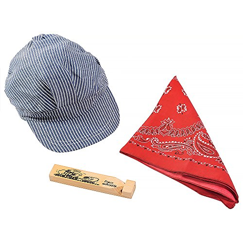 Funny Party Hats Little Engineer Hat, Bandana, & Whistle Set