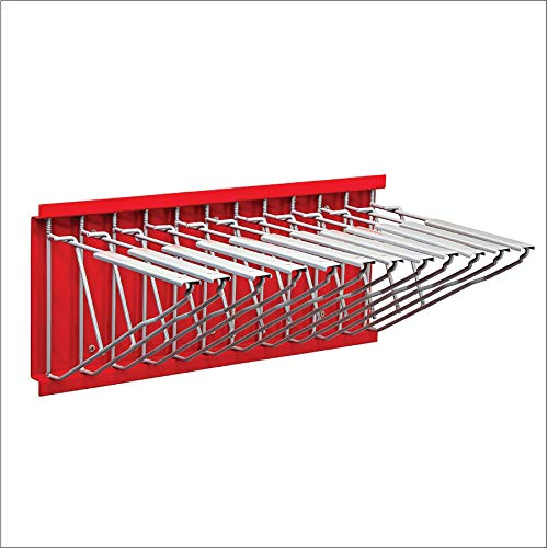 Adir Corp. Wall Mount Blueprint Storage - Hanging Poster Display Rack - Plans File Holder Organizer - Ideal for Small Or Big Office, Home (Red)
