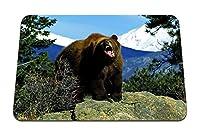 22cmx18cm マウスパッド (クマの丘の丘の木) パターンカスタムの マウスパッド