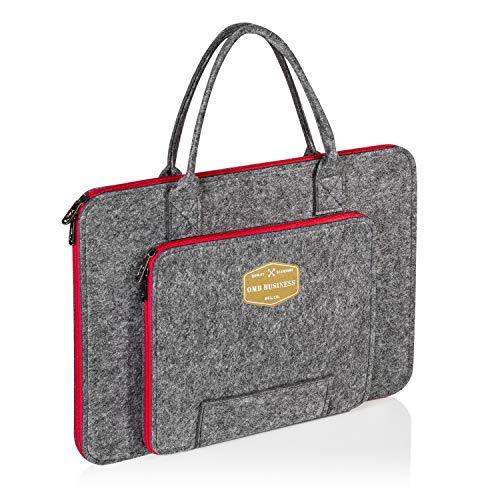 omb Bolsa para portátil de 15 a 15,6 pulgadas, maletín para ordenador portátil, bolso para el hombro, para trabajo o negocios.
