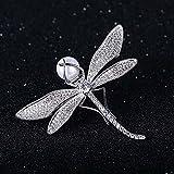 yuge Un broche de libélula de moda que proporciona a las mujeres con circón y perla de concha