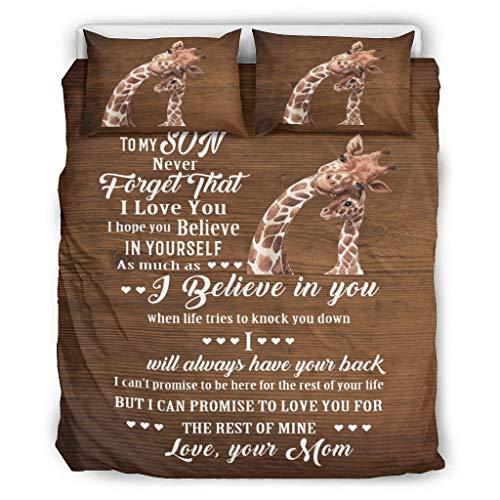 BBOOUAG Colcha de madre jirafa suave colcha estilo europeo color oscuro cama doble blanco 264 x 228 cm