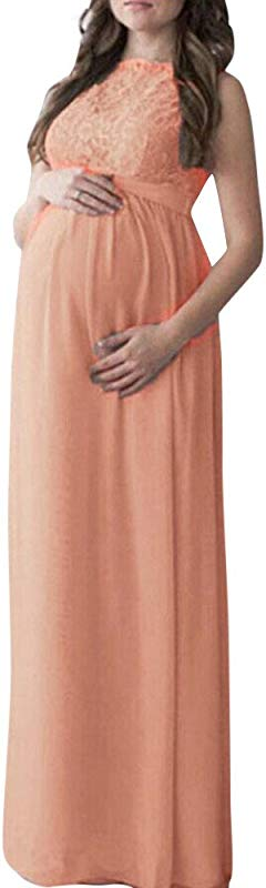 Pregnant Dress Women Lace Long Maxi Bridalmaid Dress Maternity Gown Photography Props Clothes