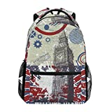 <span class='highlight'><span class='highlight'>COOSUN</span></span> Grunge Background with Big Ben Casual Backpack School Bag Travel Daypack