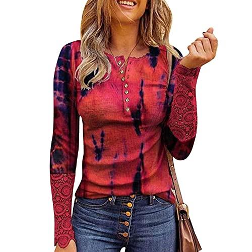 t Shirts Damen v AusschnittDamenbluse Kurzarm Sommergrünes topbunt ShirtTshirt Damen Kurzarmt Shirt Damen Kurzarm v Ausschnittt Shirt Damen KurzarmmidikleidBluse v Ausschnitt Damen,#4-Rot