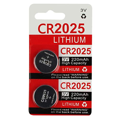 CR2025 Key Fob Remote Battery (2-Pack)