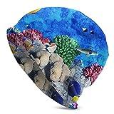 Gorro Hermoso Mundo Submarino Corales y Peces Tropicales Sombrero de Gorro Gorro de Punto cálido Gorro de Calavera