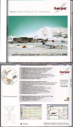 Herpa Miniaturmodelle. Herpa Wings Archiv CD. Version 1992 - April 2008