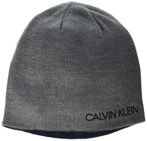Calvin Klein Herren Reversible Beanie Strickmütze, Rock Heather, Einheitsgröße