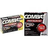 Combat Roach Killing Bait, Large Roach Bait Station, 8 Count (780059/41913) and Combat Max 12 Month Roach Killing Bait, Small Roach Bait Station, 18 Count