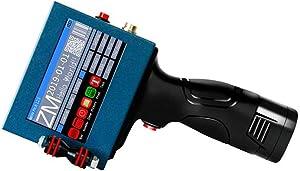 T-king ZM-630II Handheld Printer,Intelligent Inkjet Printer, 4.3 Inch Touch-Screen Printer Laser Marking Machine Label,Portable Production Date Bar Code Coding Graphic Logo Text Making Printer