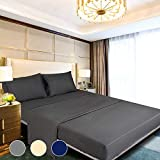 Bed Sheets Set with Deep Pocket Pillowcase Bedding Fitting Bedsheet Cool Soft Decor Queen Size Gray