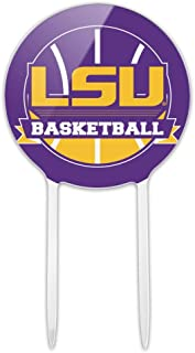 GRAPHICS & MORE Acrylic LSU Basketball Cake Topper Party Decoration for Wedding Anniversary Birthday Graduation
