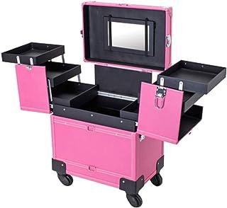 9e57bf742 OCYE Caja de Tren de Maquillaje Profesional, Gran Capacidad Impermeable,  Carrito de múltiples Funciones