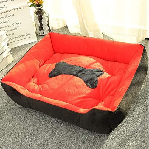 Linzxu hondenbed, wasbaar, zacht en comfortabel, voor honden en andere honden, niet gemakkelijk te lijmen, waterdicht, 6 maten