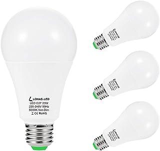 E27 Bombillas LED LOHAS A65 23W, Equivalente a 200W, Luz Blanca 5000K, Súper Brillante 2500LM, No regulable, Bombillas de Bajo Consumo para Cocinas, Salas de Estar, Pasillos, Paquete de 4