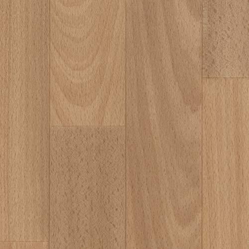 TAPETENSPEZI PVC Bodenbelag 2, 3, 4m Breite, Länge variabel |Schiffsboden Buche I Muster | Boden als Meterware | Vinylboden Fußbodenheizung geeignet | pflegeleicht, rutschhemmend & antistatisch
