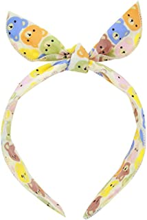Fdit Cartoon Animals Pattern Baby Headband Infant Newborn Hair Band Wrap Bow Knot Cute Comfortable for Baby Girls Kids