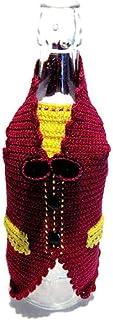 Cubierta granate de ganchillo para botellas de vino - Tamaño: 26 cm x 25 cm H - Handmade - ITALY