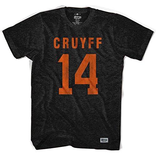 Ultras Johan Cruyff Holland 14 Soccer T-Shirt, Vintage Black, Small