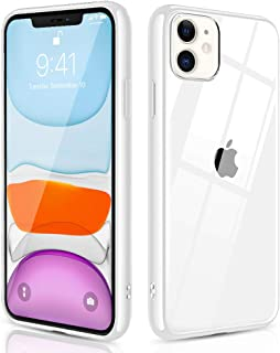 OULUOQI Compatible with iPhone 11 Case 2019, Shockproof Clear Case with Hard PC Shield+Soft TPU Bumper Cover Case for iPhone 11 6.1 inch