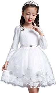 (チェリーレッド) CherryRed 子供服 フォーマルドレス 真珠 ベルト ふんわり 無地