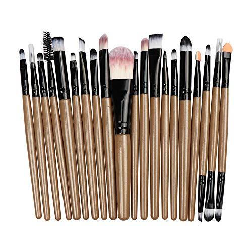 Pinceau De Maquillage Professionnel Fard À Paupières Foundation Eye Brush Set De Pinceaux À Lèvres, Café + Noir