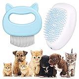 Mostfun 2 Stück Katzenbürste Hundebürste Waschbare Hundekamm Selbstreinigende Bürste für langes und kurzes Haar