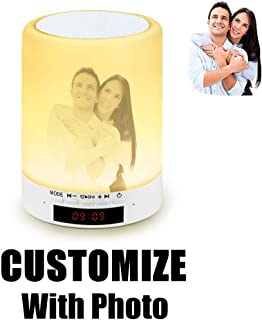Personalized Gift Wireless Bluetooth Speaker Photo 3D Printed Night Light LED Touch Control Portable S (Customize)