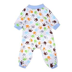 Everpert Griffe de chien Imprimé Coton pour animal domestique veille JumpSuit à tricoter Puppy Pyjama Vêtements