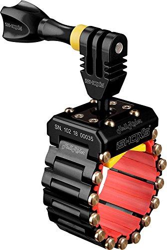 iSHOXS Hell Rider - Universelle Action- und Sportcam Motorrad Halterung für 20-42mm Durchmesser - Schwarz