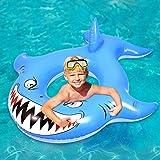 CLISPEED Aufblasbarer Hai Pool Float, Floatie Wasserspaß Summer Beach Schwimmrohr Float Aufblasbare Pool Rafts Lounge Spielzeug für Jugendliche und Kinder-SGS-Test bestanden