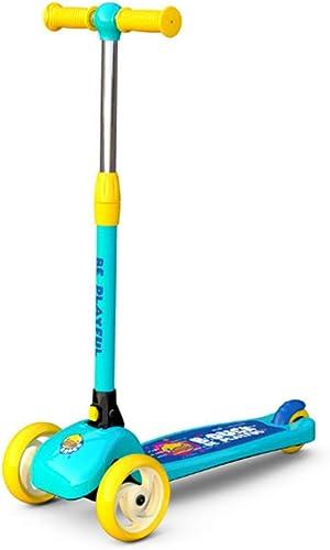 nueva marca Scooter para Niños - Luminoso de Tres Ruedas Plegable Plegable Plegable con Rompecabezas Deportivo para Niños de 8 a 12 años de Edad.  la red entera más baja