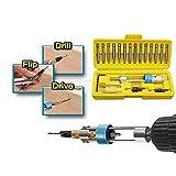 HAMKAW Halftime Drill Driver Multi Screwdriver Tool 20PCS/Set, Newest High Speed Phillips & Slot & Countersink Screwdriver Head Repair Tool Kits, 1/8