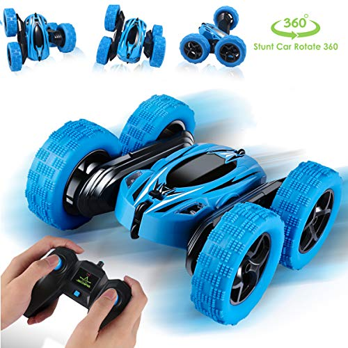 RC Cars Remote Control car, 2.4GHz Electric Race Stunt Car,Double Sided 360° Rolling Rotating Rotation, LED Headlights RC 4WD High Speed Off Road for 3 4 5 6 7 8-12 Year Old Boy Toys