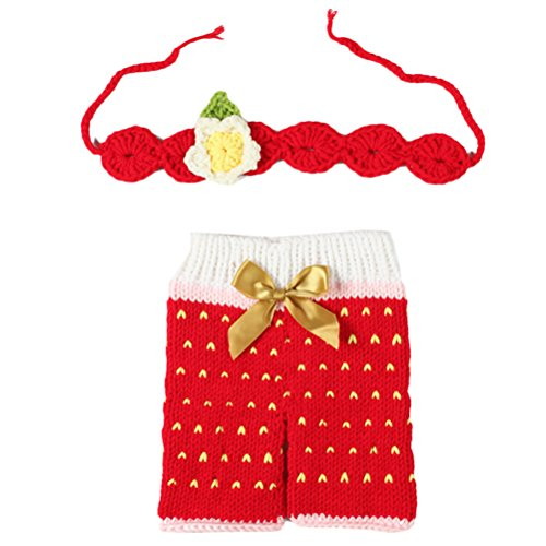 Zhhlinyuan Mode Newborn Baby Boy Girl Crochet Knit Costume Photo Photography Prop Outfit 2232