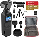 DJI Osmo Pocket - 4K/60FPS Handheld 3-Axis Action Camera Ultimate Bundle, includes Extreme Card, Hard Case, Tripod and More