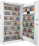 Barska AX12660 144 Wall Digital Keypad Cabinet Key Safe, White