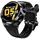 CXWAWSZ 1.3 inch Full Touch Screen Smart Watch Earbuds 2 in 1 Smartwatch TWS Bluebooth Earphones IP67 Waterproof Fitness Tracker Heart Rate Blood Pressure Sleep Monitor for Men Women Gift